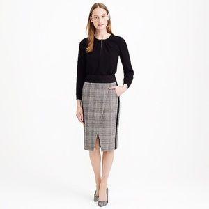 J.CREW • glen crossover skirt